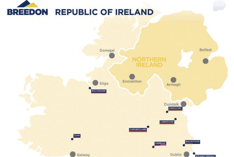 Breedon Ireland operates under the Lagan brand in the Republic of Ireland and the Whitemountain brand in the North