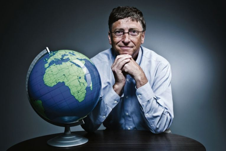 'Bill Gates adopts a kind of homespun, fireside approach to saving the world.' Picture: Getty