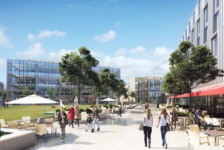 Crown Square on Monivea Road: the largest mixed-use development in Galway city