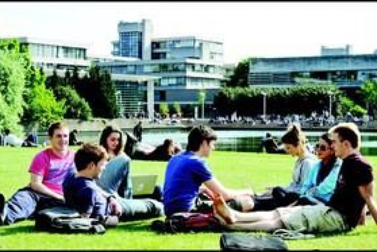 Students in UCD: exposing public institutions to competition from the private sector will encourage excellence in higher education. Photo: Maura Hickey