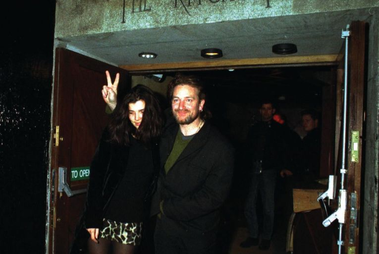 U2's Bono and his wife Ali Hewson leaving The Kitchen nightclub, co-owned by Bono and bandmate Edge, in Dublin. Photo: Photocall Ireland