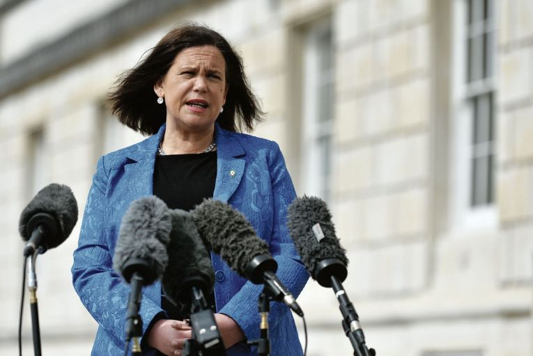 Mary Lou McDonald: the Sinn Féin leader claimed the party was using the electoral register to compile its database
