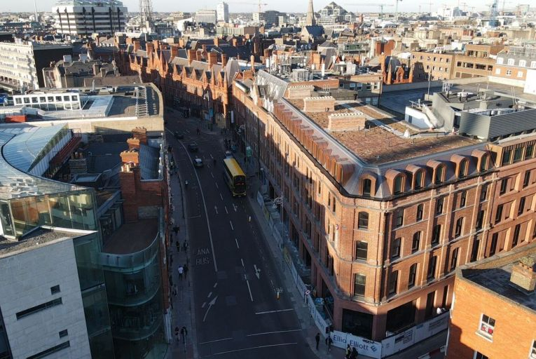 A 97-bedroom Premier Inn on South Great George's Street in Dublin 2 will be the first of Premier Inn's city centre hotels to open this autumn