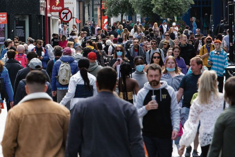Grafton Street in Dublin city centre: the pandemic stopped many kinds of spending in their tracks. Picture: Fergal Phillips
