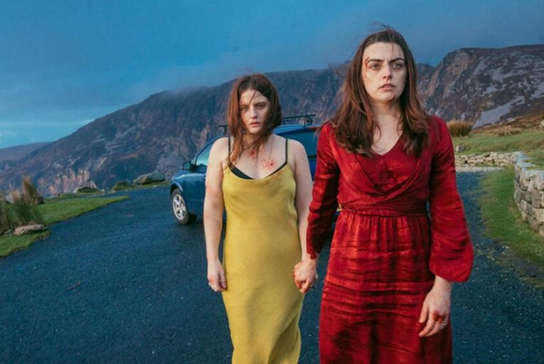 Nika McGuigan and Nora-Jane Noone play sisters confronting the murder of their father in Wildfire