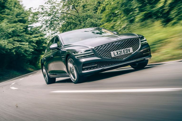 The Genesis G80 saloon drives well, with a real feeling of serenity