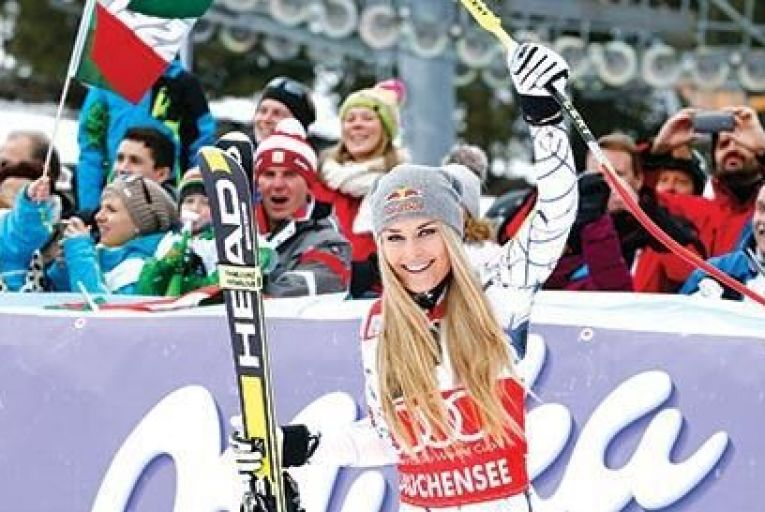 Lindsey Vonn crashed out ignominiously at 80mph, but avoided serious injury Picture: Getty