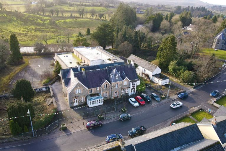 Abbey Manor Hotel on Dromohair's Main Street will require an extensive restoration and renovation project to restore it to its former grandeur