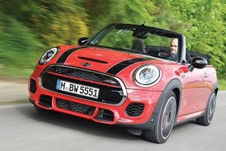 The new Mini John Cooper Works Convertible is quick in a straight line, with direct steering providing grip and stability