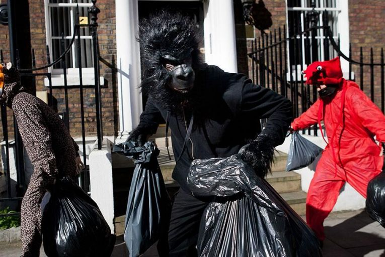 Activists dressed as animals invaded the PR firm Bell Pottinger in central London in April Pic: Getty