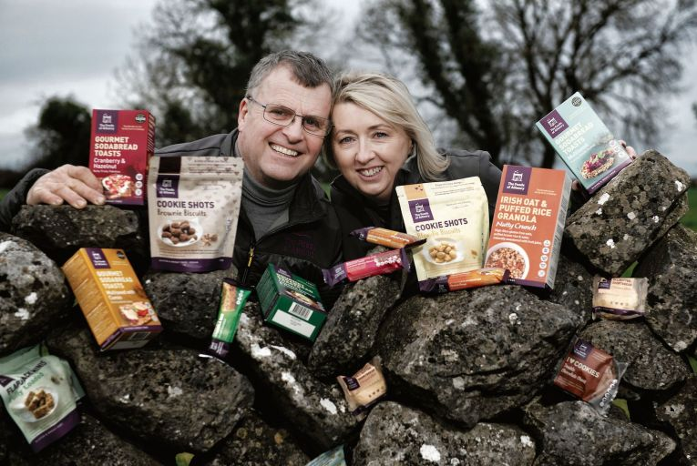 """Paul and Siobhán Lawless of Foods of Athenry. """"We were ahead of the posse a few years ago, but now every man and his granny is selling gluten-free and vegan, all the major players,"""" she said. Picture: Michael Dillon."""