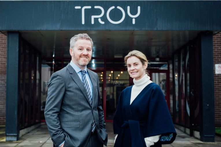 Paul C Ryan, regional film manager at Film in Limerick and Michelle Brassil, studio manager at Troy Studios. Picture: Brian Arthur