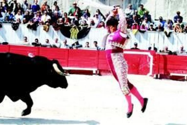 Bullfighters in action in Arles. Photo: Getty