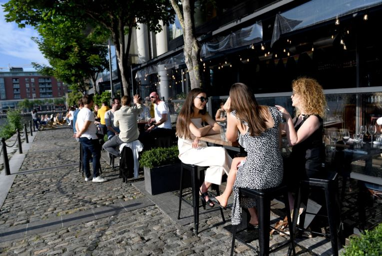 Charlotte Quay Restaurant has one of the best outdoor dining areas in the capital. Picture: Bryan Meade