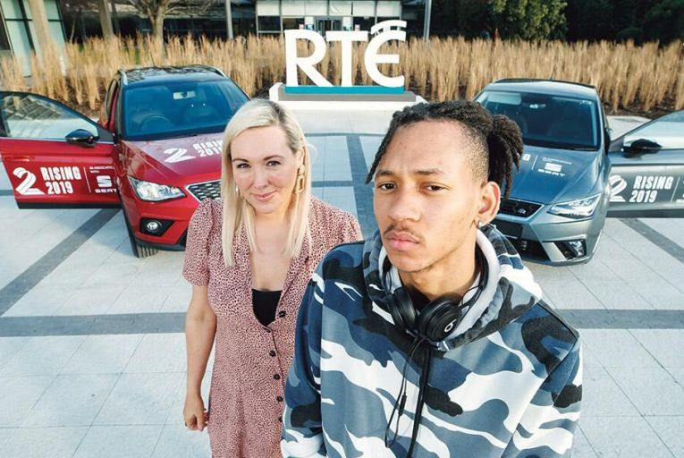 Tracy Clifford of 2FM with rapper Jyellowl Pic: Andrés Poveda