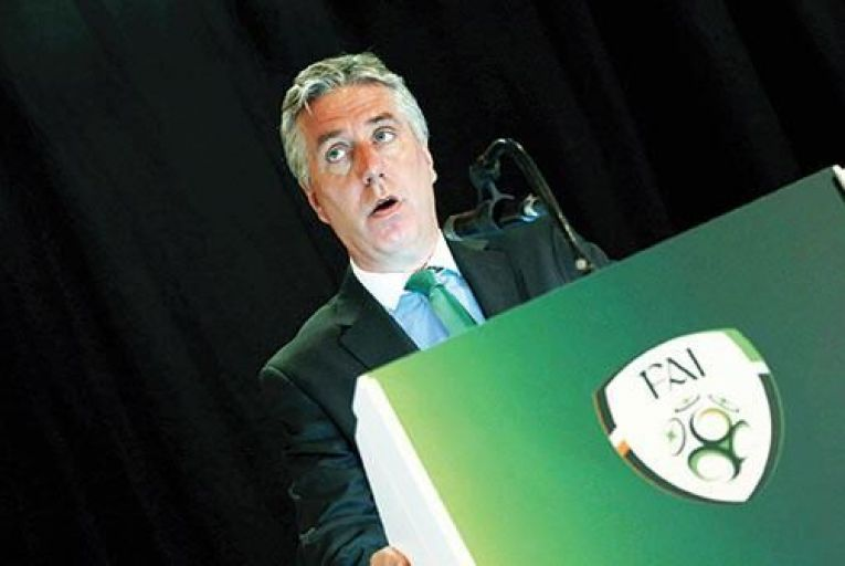 John Delaney: acutely  aware of the value of  keeping Ireland fans onside  Picture: inpho