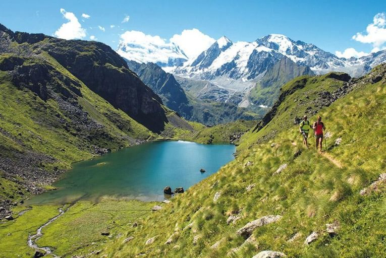 A dizzying but tranquil Alpine walk: the trail is known as the Sentier des Chamois,  and is an ideal way to see the wildlife of the region