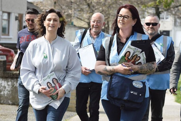 Sinn Féin candidate Lynn Boylan (left): suffering from the presence of Clare Daly on the ballot papers this time around Maura Hickey