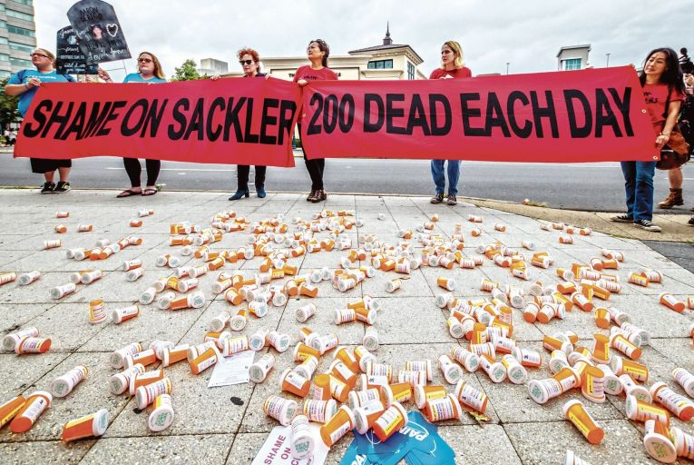 The Sackler family pocketed more than $35 billion in profits from OxyContin, a drug marketed with devastating ruthlessness and efficiency. Picture: AP