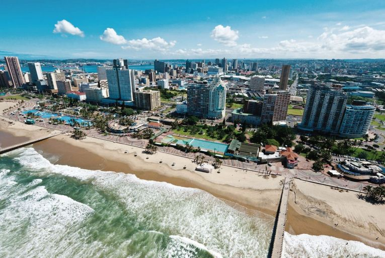 Durban and its extensive beachfront