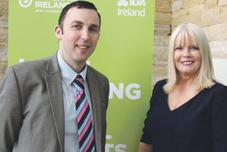 Paul Veale, IDA regional business development manager for the midlands region, with jobs minister Mary Mitchell OConnor at the two-day Trade and Investment Mission, organised by Enterprise Ireland and IDA Ireland as part of their joint Global Sourcing initiative