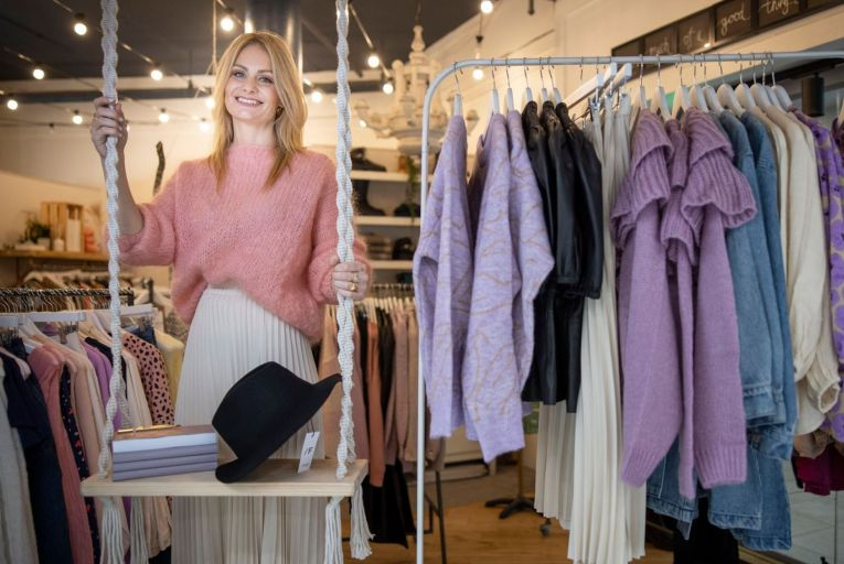 Bronagh O'Sullivan of Pearl & Bow in Rathmines: late pandemic dressing means injecting a dose of fun and glamour into your wardrobe. Picture: Fergal Phillips