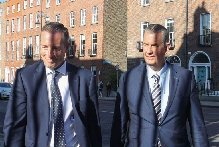 Paul Givan, left, is expected to be nominated as Northern Ireland first minister today while Edwin Poots, the DUP leader, will focus on 'rebuilding' the party while keeping his agriculture ministry. Picture: Rollingnews.ie