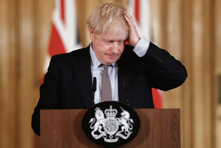 Britain\'s Prime Minister Boris Johnson; Covid-19 may weaken him politically as well as physically. Picture: Getty