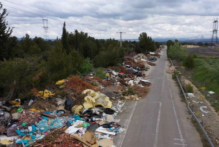 Aerial drone shots like this one of illegal dumping could be used to prosecute the culprits under new legislation
