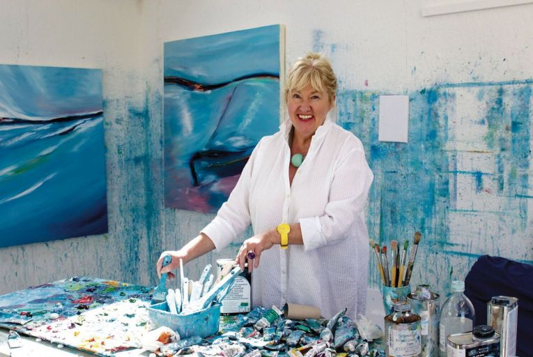 Majella O'Neill Collins came to Sherkin Island more than 30 years ago and now works on the BA in Visual Arts. Picture: Collins