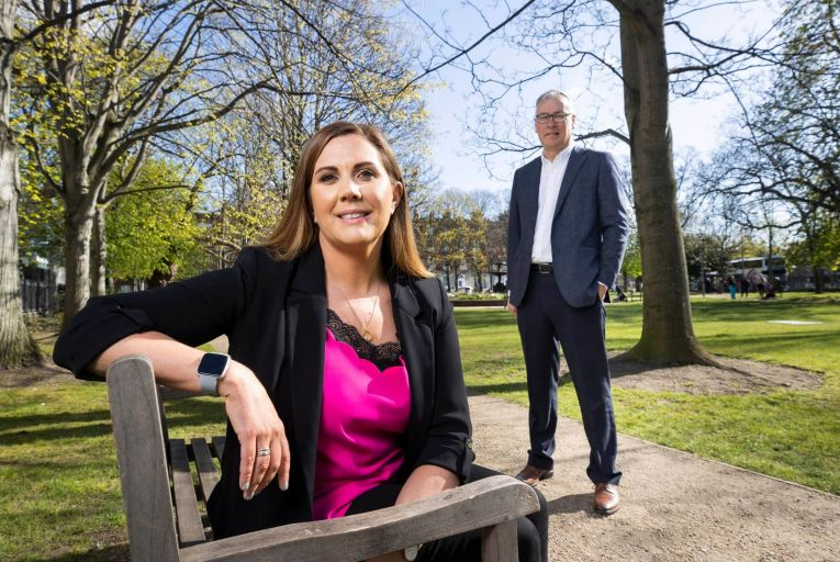 Ruth Bailey, Vigo Health co-founder and chief executive, and Stephen Loughman, co-founder and chief financial officer