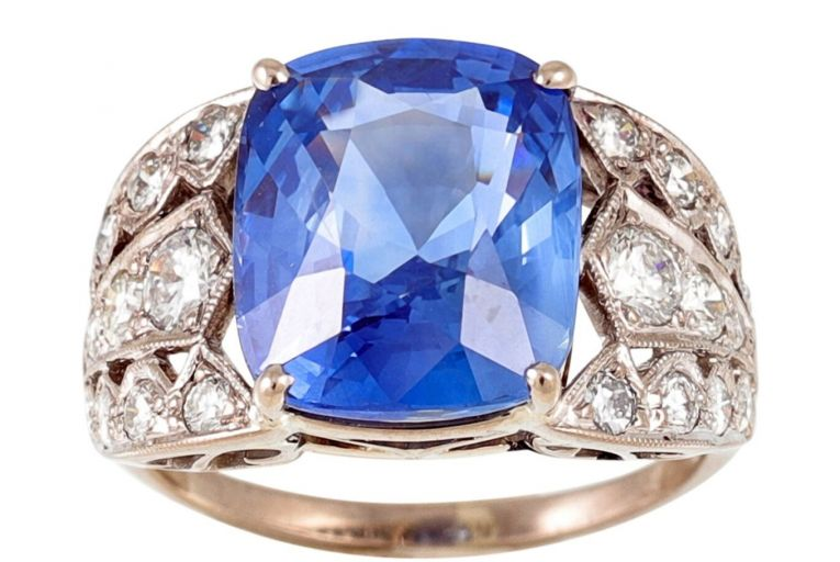 A sapphire and diamond ring up for grabs at O'Reillys online auction this month