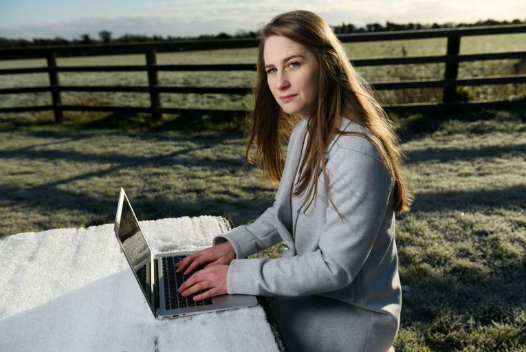 Louise Nealon, whose debut novel is due out in May: 'I only began to write seriously when I gave up the idea of becoming a serious writer.' Picture Bryan Meade