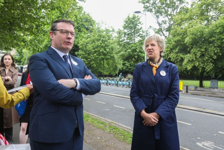 Alan Kelly, the Labour Party leader pictured with Senator Ivana Bacik, the party's candidate in the Dublin Bay South by-election: Labour's new bill would allow councils to use compulsory purchase orders to buy land at capped prices. Picture: Rollingnews.ie