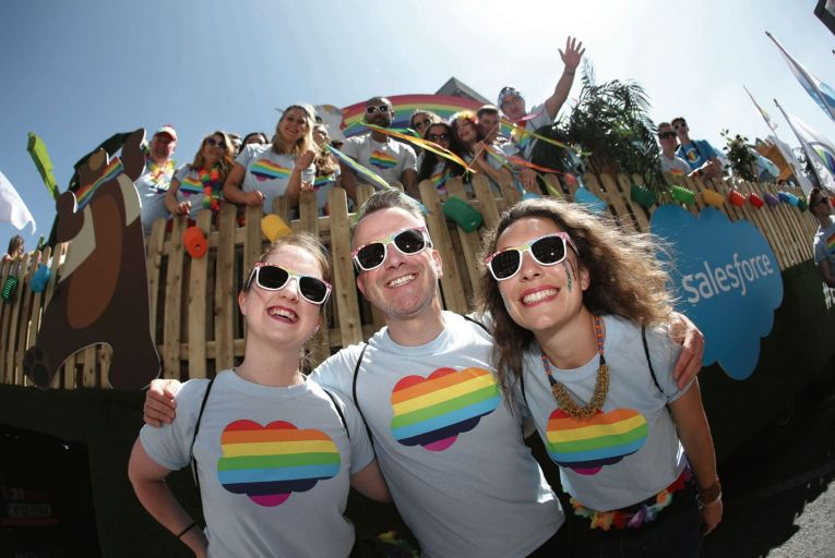 More than 250 representatives from Salesforce participated in Dublin Pride 2018