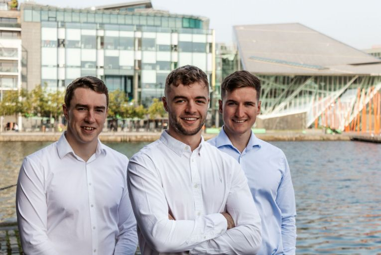 Rónán Dowling-Cullen, Brian O\'Mahony and Charlie Butler, co-founders of Bounce Insights which has opened a seed round. Picture: Guy Boggan
