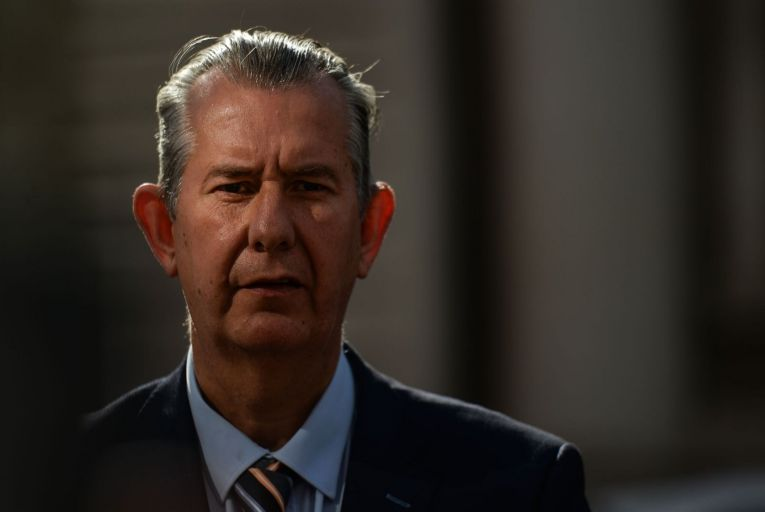 Edwin Poots resigned as DUP leader following an internal party revolt over a deal struck between the British government and Sinn Féin to circumvent the Northern Executive and introduce Irish language legislation through Westminster.. Picture: Getty