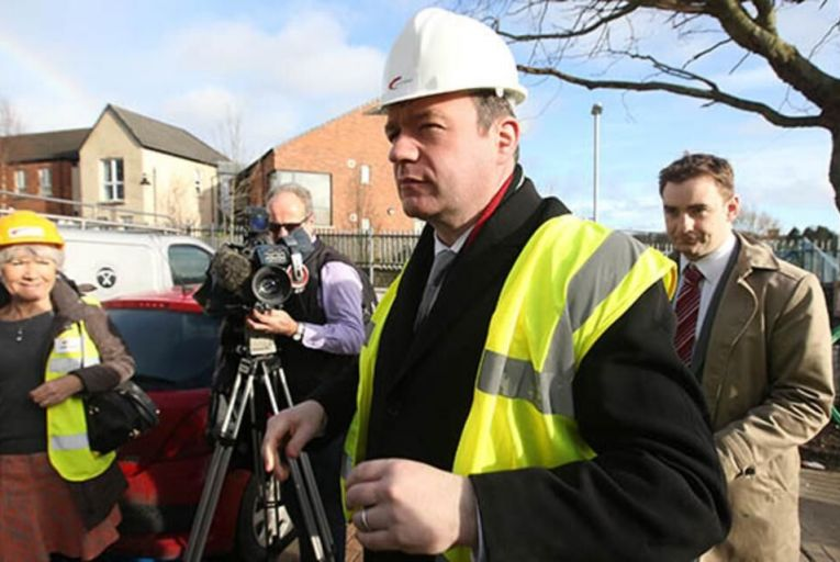 Minister for Minister for the Environment, Community and Local Government Alan Kelly TD visiting the Fold Housing Agency development in Glasnevin, Dublin 9 last month Picture: Rollingnews