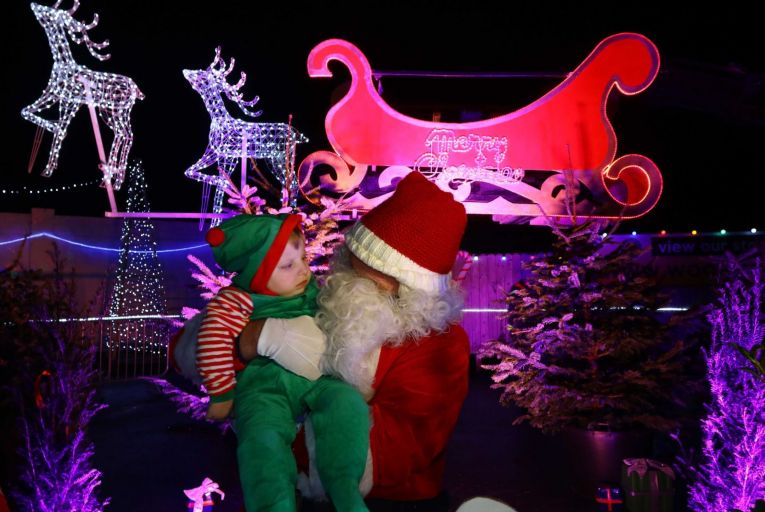 Santa pays a flying visit to Galway's Winter Wonderland