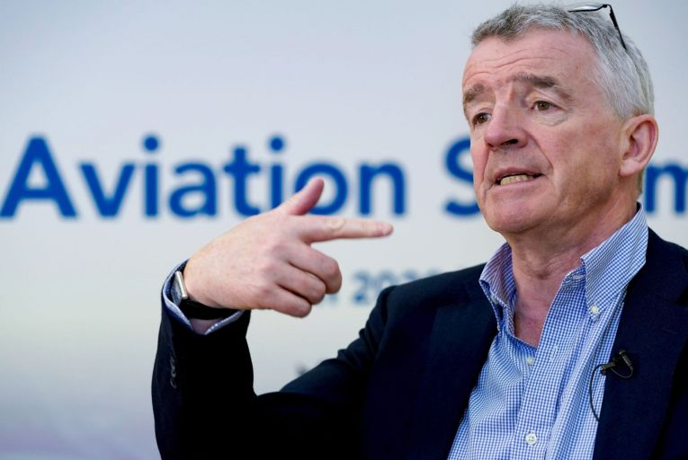 Michael O'Leary, Ryanair chief executive. The airline expects a loss of €850 million to €950 million in the 12 months to the end of March