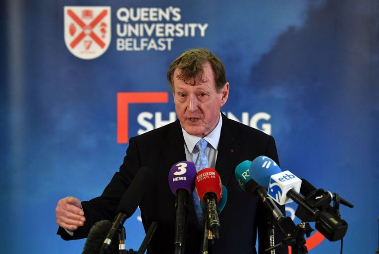 David Trimble: the former first minister has joined the legal challenge to the Northern Ireland protocol