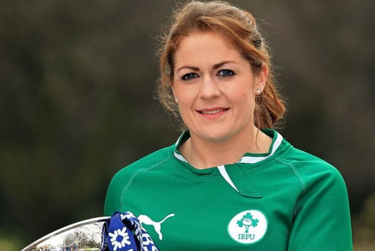 Fiona Coghlan of the Irish Womens Rugby team