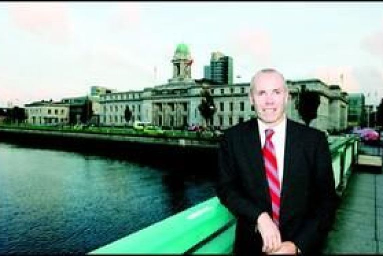Tim Lucey, Cork city manager, outside City Hall. Photo: Provision