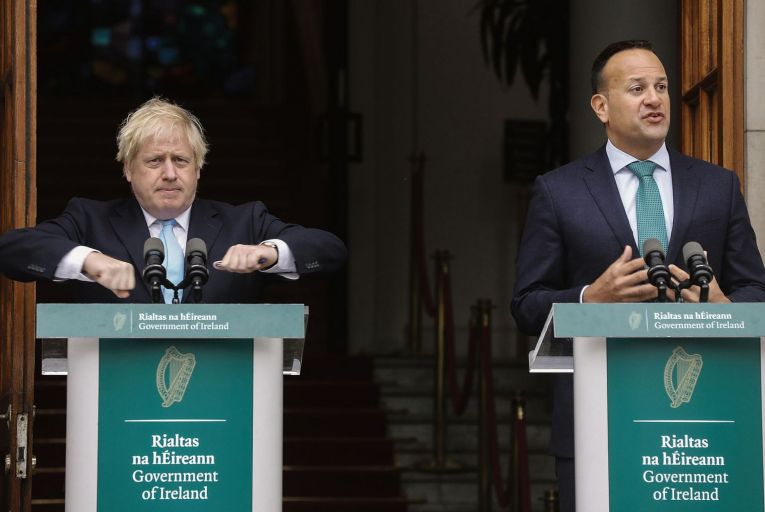 Leo Varadkar made a brave call in trusting Boris Johnson on the open border. Picture: Getty