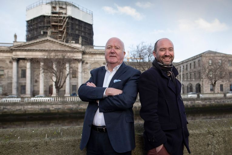 Conor Brady and his son Neil have set up Caliber, which aims to spot defamatory text. Picture: Fergal Phillips