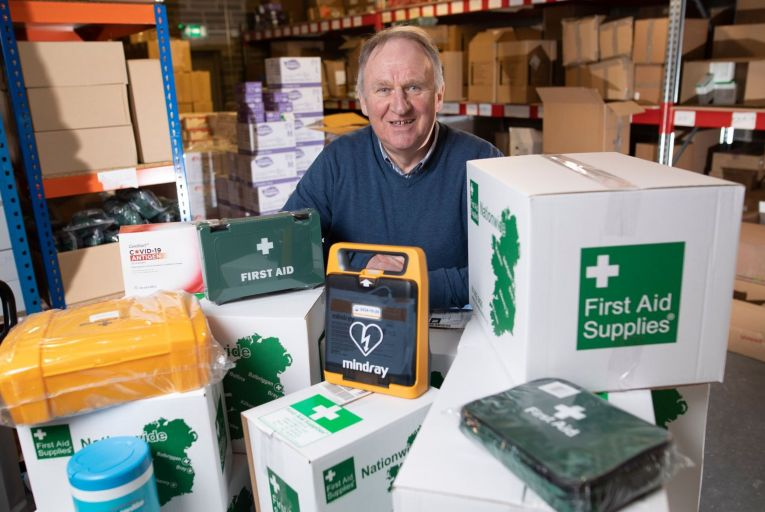 Gerry Breen, owner of First Aid Supplies Picture: Fergal Phillips