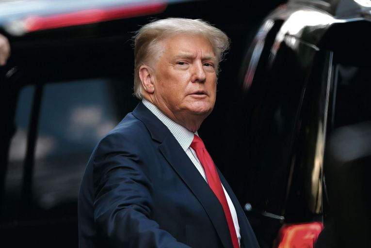 Donald Trump: his grip on the Republican Party has, if anything, strengthened since his defeat by Joe Biden last November. Picture: Getty