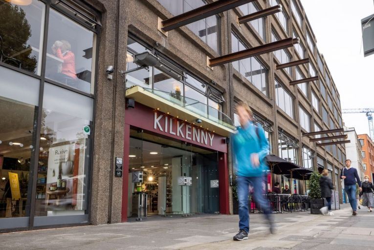 The Kilkenny shop and restaurant in the Setanta Centre on Nassau Street: It says the planned construction work would effectively render the store 'camouflaged by scaffolding'. Picture: Fergal Phillips