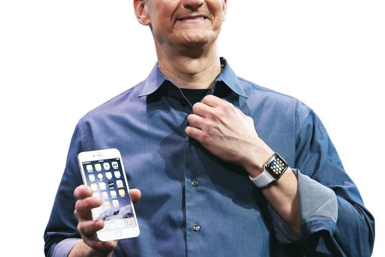 Tim Cook, chief executive of Apple: the tech titan set a record share price last week, but it's getting harder to be top dog
