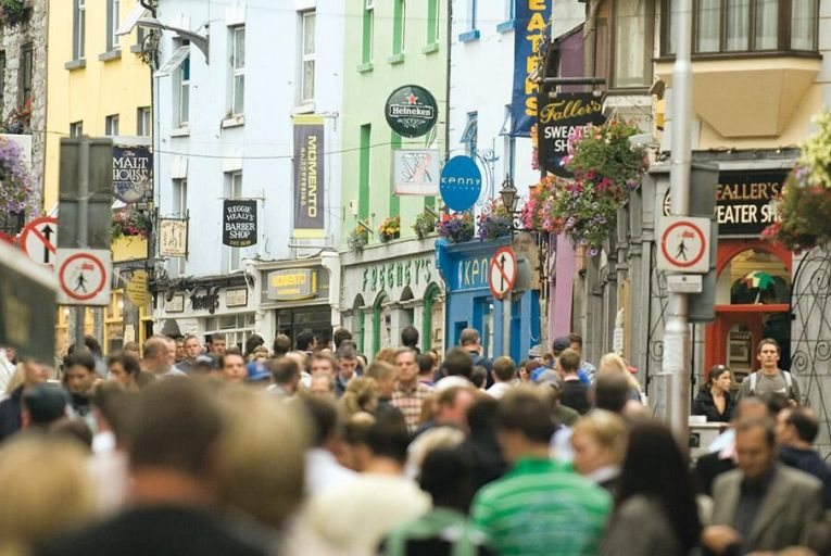 Shop Street in Galway: more than 1.6 million overseas tourists visited the city and county in 2017 Pic: Failte Ireland